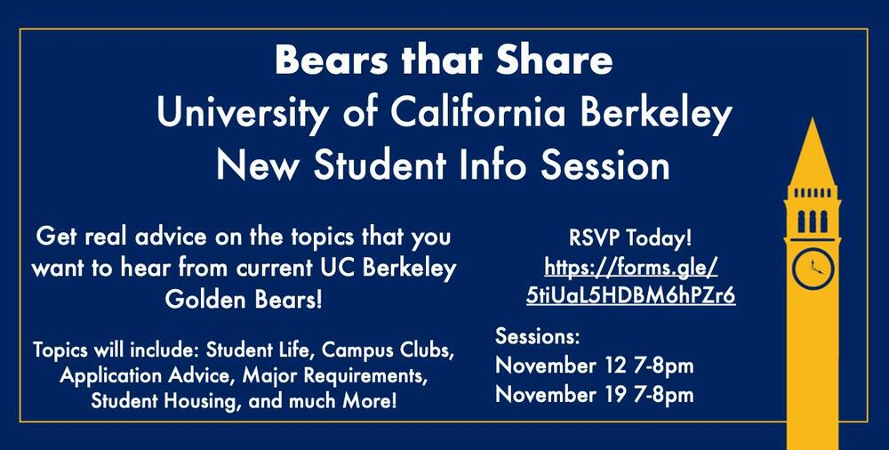 Bears That Share Informational Flyer   Student Info Session 11 12 and 11 19 from 7-8pm